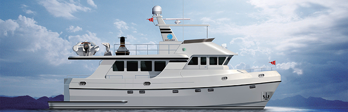 Explorer Odyssey 62 - designed to cruise the world's oceans.