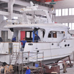 The new Explorer 58 Pilot House in build at the company's yard.