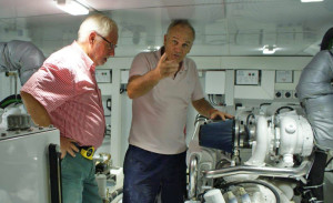 Explorer CEO Mark Campion discusses engine performance with the new owner.